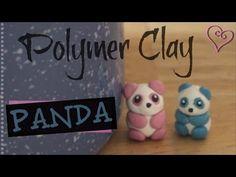 PANDA - Polymer Clay Charm - How To - YouTube