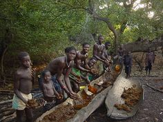 Producing palm oil in the Bijagos archipelago, Guinea-Bissau
