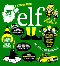 "Elf Movie Quotes ""I'm sorry I ruined your life and crammed eleven cookies in the VCR."" Funniest. Movie. Ever!!!"