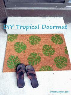 DIY Tropical Doormat