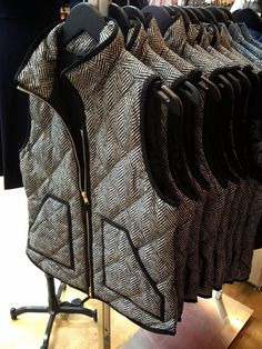 This vest is every closet's must have. Different ways to wear the J.Crew Herringbone Vest