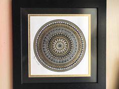 Mandala-Wand-Kunst Mandala Mandala Zeichnung böhmische
