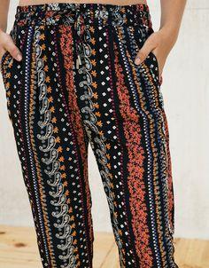 Pantalon baggy avec cordon - Pantalons - Bershka France