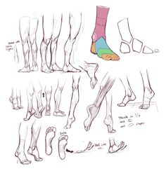 Feet Study by Rich Carey Hand Reference, Figure Drawing Reference, Anatomy Reference, Art Reference Poses, Human Anatomy Drawing, Anatomy Study, Body Anatomy, Drawing Legs, Feet Drawing