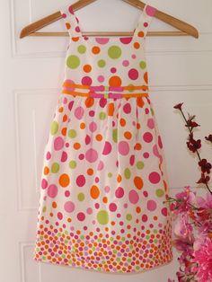 #Springdresses#Birthday $8.25 Girls, Bonnie Jean Multicolored Polka Dot dress w/ribbons. Sz. 6 #BonnieJean