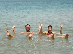 76. lie in the Dead Sea, arm in arm