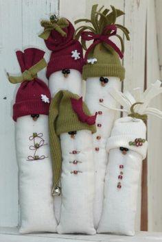 Familia de ninots de neu