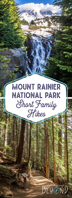 [orginial_title] – Adventuring Beyond (Tips for Traveling + Hiking with Kids) Mount Rainier National Park – Short Family Hikes Mount Rainier National Park. Hiking with kids. State Parks, Wa State, Reisen In Die Usa, Voyage Usa, Mt Rainier National Park, Colorado, Hiking With Kids, Just Dream, Us National Parks