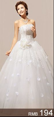 Half-Free Post Korean wedding dress new 2013 Bra Qi princess was thin Puff spring wedding from taobao