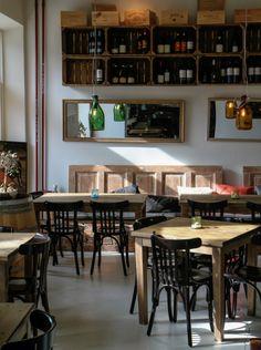Nice interior design in this Italian style restaurant - Turku, Finland