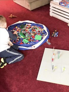"""LEGO cleanup made simple, fast and fun with Swoop Bags! Just """"Swoop it up!"""" Made in USA. Toy Storage Bags, Lego Storage, Storage Ideas, Lego Bag, Modern Toys, Clean Up, Legos, Make It Simple, Kids Rugs"""