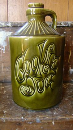McCoy cookie jar COOKIE JUG moonshine jug by ThreeGoatsGruff