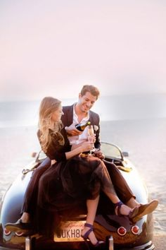 Vintage Wine Sunset Malibu beach engagement shoot - Nope, not an editorial from the pages of Vogue or Elle. Just one chic engagement session from Jana Williams Photography! Brittney loves clothes and Shaney loves cars, so they incorporated both of thos Car Engagement Photos, Beach Engagement, Engagement Shoots, Engagement Photography, Wedding Photography, Country Engagement, Engagement Ideas, Couple Photography, Thalia