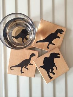 These nice, wooden coasters. | 19 Dinosaur Things You Need In Your Life Right Now
