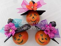 The Decorative Painting Store: Halloween Lightbulb Ornies Pattern - Kathleen Whiton - PDF DOWNLOAD, Newly Added Painting Patterns / e-Patterns