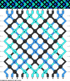 12 strings, 12 rows, 3 colors