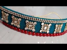 (DIY)HOW TO MAKE JADAVI-LACCHA BRIDAL WEAR NECKLACE//TRADITONAL JEWELLERY//HANDMADE JEWELLERY// - YouTube