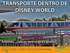 En Walt Disney World es posible transportarse en diferentes opciones como el famoso monorriel. Además para utilizar el monorriel no tienes que ser huésped de los hoteles de Disney y usarlo no tiene ningún costo para ti ==> http://g2l.us/transdisney