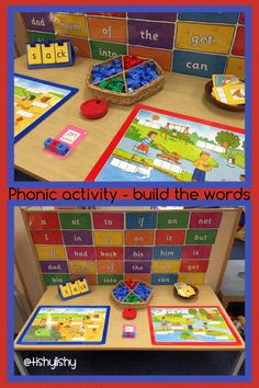 Phonic activity - build the word with blocks