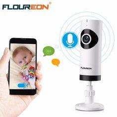 Floureon HD P2P мини WI-FI безопасности IP Камера Видеоняни и радионяни Беспроводной Fisheye Дома Видеонаблюдения ip-видеонаблюдения Камера