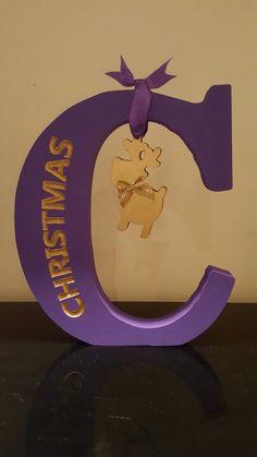Freestanding Christmas letter and reindeer https://m.facebook.com/glamBeauty1/