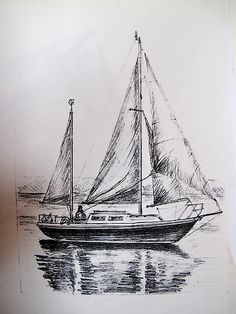 drawing pencil boat - Google Search