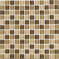 """#Interceramic - Interglass Shimmer Blends Desert 1"""" x 1"""" Mosaic"""