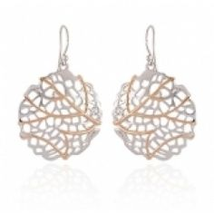Jorge Revilla Sterling Silver and Pink Gold Earrings