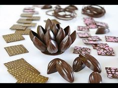 Mark Tilling: How to make chocolate flower decorations for cakes and centerpieces - YouTube