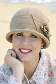 Cancer Patient Hats: Cotton Flapper Hat for Chemo Flapper Hat, Flapper Style, 20s Fashion, Vintage Fashion, Hats For Cancer Patients, Hair Loss Medication, Sun Protection Hat, Cotton Beanie, Headgear