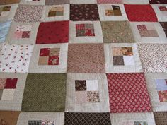 MI RINCON DE COSTURA: COLCHA DE CUADRITOS Colchas Quilting, Scrappy Quilt Patterns, Patchwork Tutorial, Patches, Quilts, Blanket, Sewing, Bed, Crafts