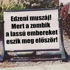 Zombi törvény Sport Motivation, Fitness Motivation, Motivational Quotes, Inspirational Quotes, Famous Quotes, Make You Smile, Quotations, Texts, Funny Jokes