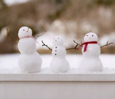 Make mini snow men...put outside kitchen window & enjoy for days!