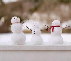 Make mini snow men...put outside kitchen window & enjoy for days!
