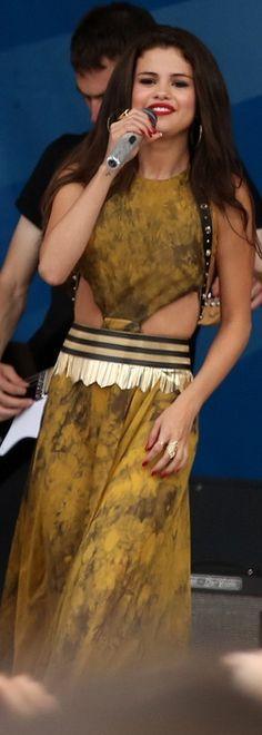 Selena Gomez: Dress – Versace  Ring – Viento