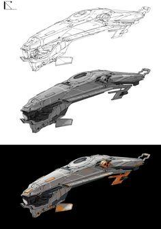 ArtStation - spaceship, luye gainianxinhua
