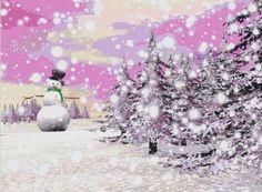 Winter Landscape 2 Cross Stitch Pattern