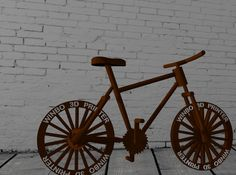 The printed Bicycle, do you want to have a try? Daisy, Bicycle, Printed, Vehicles, Bicycle Kick, Bike, Trial Bike, Daisies, Bicycles