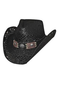 718bf6628f7 Bullhide Pure Country Black Straw Cowboy Hat Cowgirl Hats
