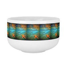 beautiful sunset starfish on beach soup mug - beautiful gift idea present diy cyo