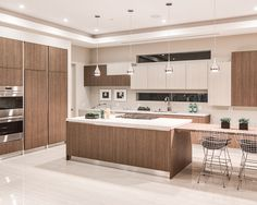 Contemporary Kitchen at Oakwood in West Hollywood by Boswell Construction #buildboswell