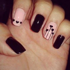 Nail art, heart