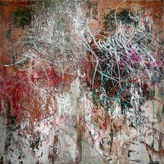 Cy Twombly Stunning colors splashed on the page, very abstract. Love the white, green, pink, and brown together.
