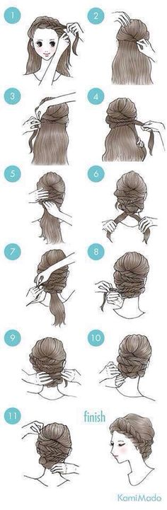 Braided updo #hairinspo  It is good hairlook on some formal wear or on days when we have greasy hair. :)