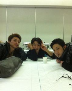 With Yamato Tamura and Kenji Miyamoto
