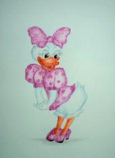 Picturile Roxanei-Babyart: Disney by Roxana Baby Art, Tweety, Mickey Mouse, Daisy, Fictional Characters, Margarita Flower, Daisies, Fantasy Characters, Art Kids