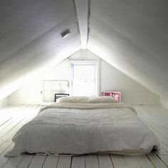 Awesome Small Attic Bedroom For Your Home. Below are the Small Attic Bedroom For Your Home. This post about Small Attic Bedroom For Your Home was posted under the Bedroom category by our team at August 2019 at pm. Hope you enjoy it and don& . Attic Bedroom Small, Attic Loft, Extra Bedroom, Loft Room, Attic Spaces, Bedroom Loft, Attic Bathroom, Attic Renovation, Attic Remodel