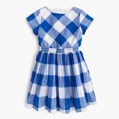 J.Crew+-+Girls'+dress+in+large+gingham