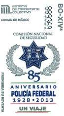 Para conmemorara el 85 aniversario de la Policía Federal, el Sistema de Transporte Colectivo emitió un tiraje de boletos en el mes de diciembre.
