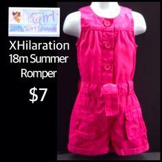 Exhilaration 18m Infant Girls Cute Pink Summer Romper $7